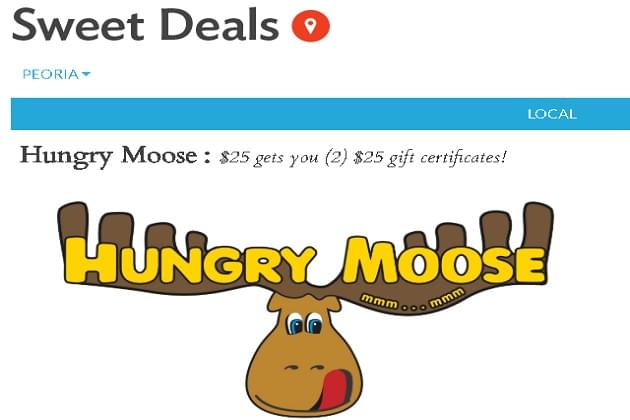This Weeks Featured Sweet Deal At Hungry Moose Is A Favorite!