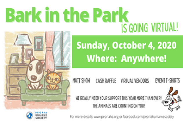 Peoria Humane Society's Bark in the Park Has Gone Virtual