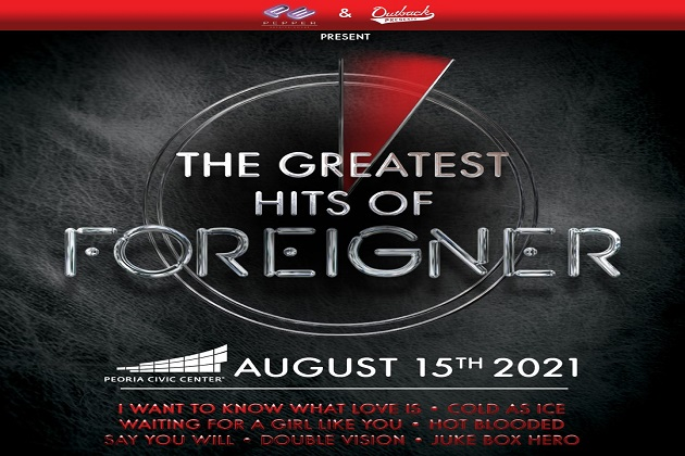 Foreigner Set To Return To The Peoria Civic Center Theater Sunday August 15th!
