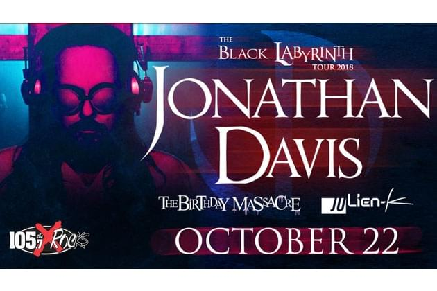 Jonathan Davis Brings 'The Black Labyrinth Tour' To The Monarch Music Hall in Peoria [DETAILS]