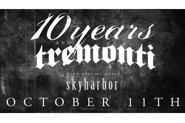 10 Years And Tremonti Playing The Monarch Music Hall On October 11th! Win Tickets With Bahan On The Morning X!