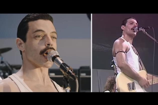 Queen Bohemian Rhapsody Film VS. Real Live Aid Set [VIDEO]
