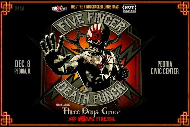 Five Finger Death Punch, Three Days Grace, Bad Wolves Will Rock The X Nutcracker On December 8th!