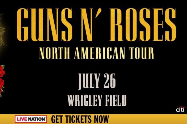 Guns N' Roses Announce Wrigley Field Stop On July 26th!