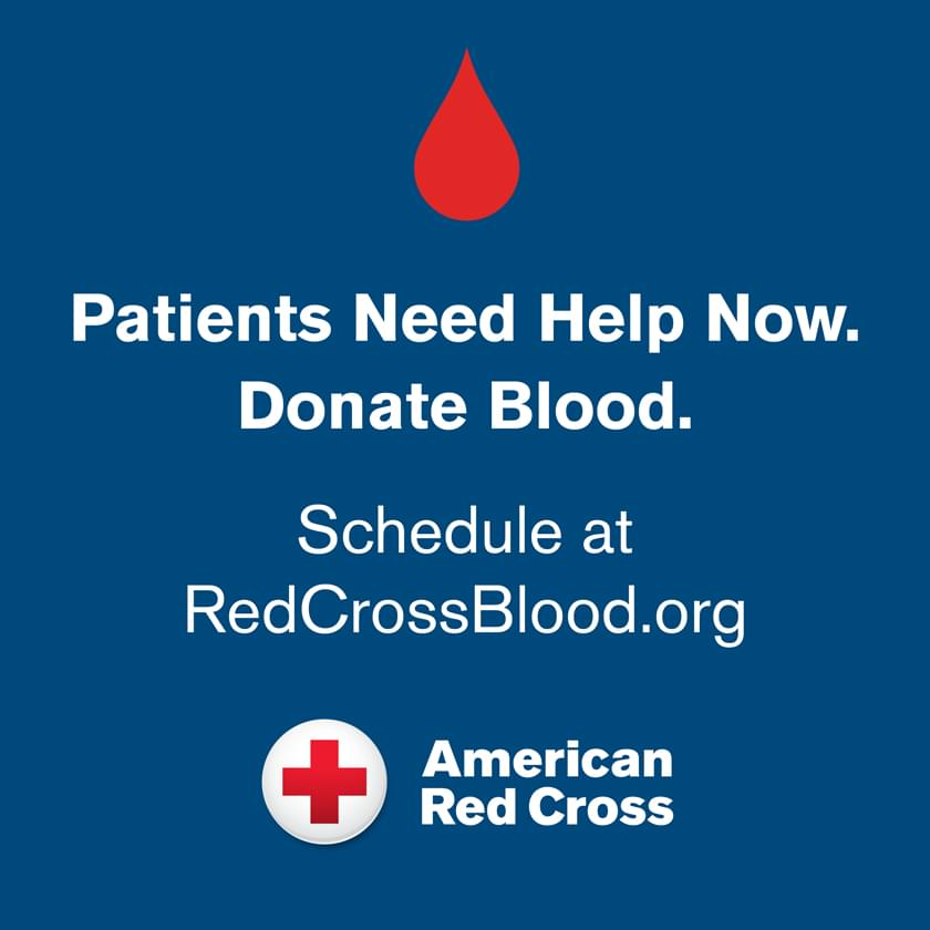 Please Make An Appointment With The American Red Cross To Donate Blood If You Are In Good Health!