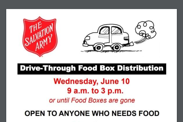 The Salvation Army Hosting A Special Drive-Through Food Box Distribution