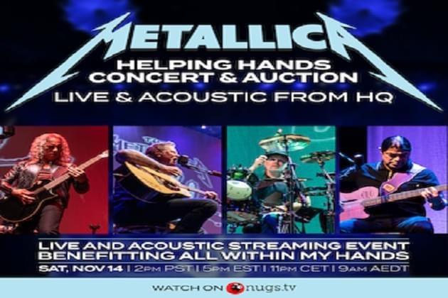 """Win Metallica 'Live And Acoustic-Helping Hands' Streaming Event Downloads With """"Rock-Star Rewards!"""""""