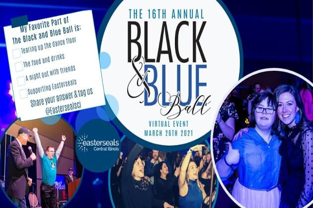 Easter Seals Black & Blue Ball LIVE This Year With Over $60K In Under 90 Minutes With Cumulus Radio Peoria