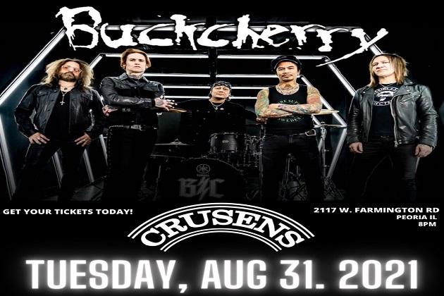 Buckcherry Set To Rock Crusens Farmington Road On August 31st!