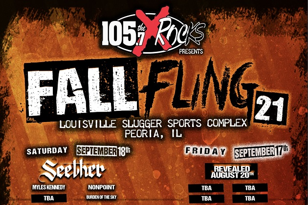 The X Fall Fling With Seether, Myles Kennedy, Nonpoint, Burden Of The Sky On September 18th At Louisville Slugger, Get Tickets!