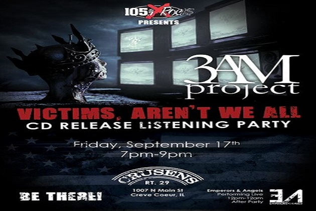 3AM Project CD Release Party At Crusens Rt. 29 This Friday Night With Emperors And Angels!
