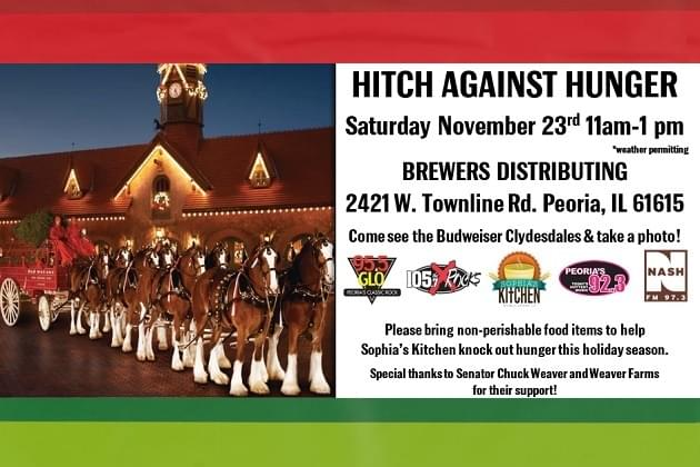 Hitch Against Hunger Joins Brewers Distributing, Budweiser Clydesdale's & Radio Team
