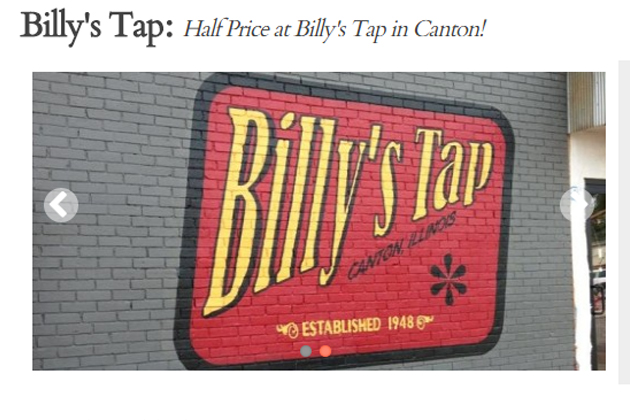 Billy's Tap In Canton Is This Week's Sweet Deal [DETAILS]
