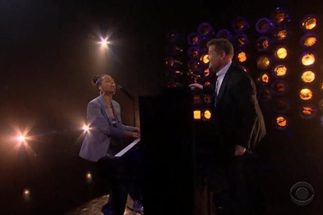 Alicia Keys and James Corden Parody Shallow