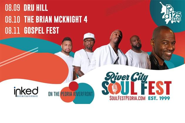 Win River City Soul Fest Passes For Dru Hill and Brian McKnight!