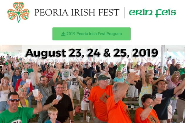 """Don't Miss The Peoria Irish Fest """"Erin Feis"""" This Weekend On The Peoria Riverfront!"""