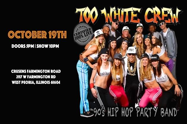 Too White Crew Gets Peoria Old Skool This Saturday At Crusens