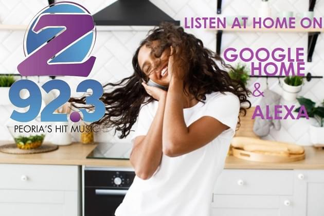 At Home? Listen to us at 92.3 FM, Z 923 App, Alexa & Google Home!