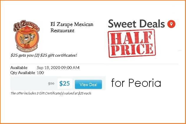 Our Featured Sweet Deal Is Half Off At El Zarape!