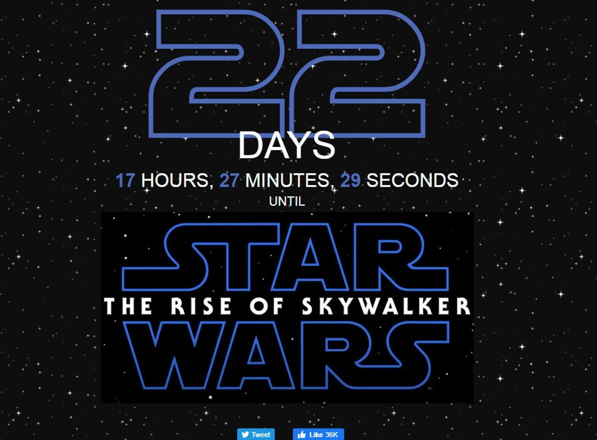 The Countdown to Star Wars: The Rise of Skywalker
