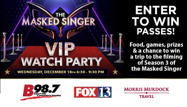 Win tickets to the Fox 13 and B98.7 Masked Singer VIP Watch Party