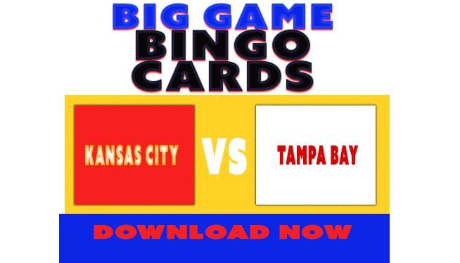 Big Game Bingo Cards