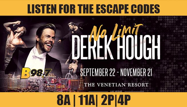 Escape to Las Vegas to see Derek Hough