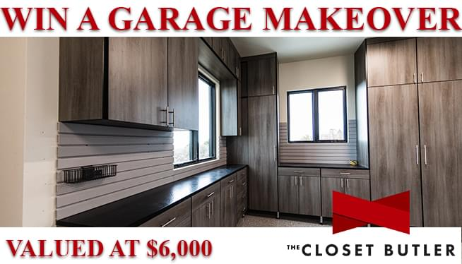 Win a Garage Makeover from The Closet Butler Valued at $6,000!