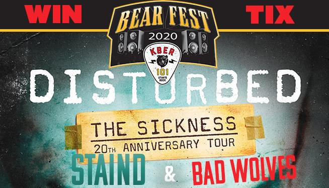 BEAR FEST 2020 With Disturbed – Staind & Bad Wolves September 9th