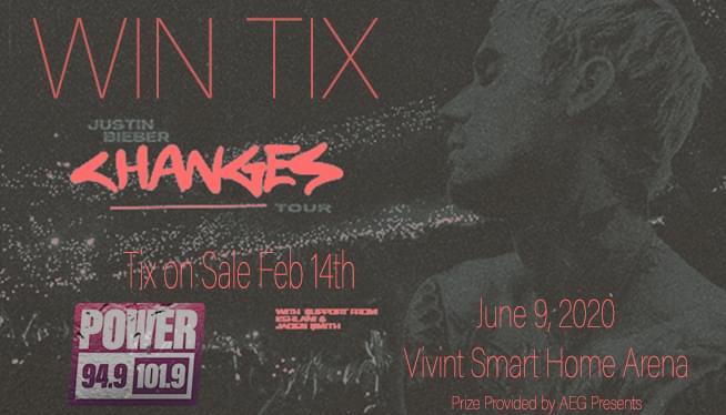 Win Tix To See Justin Bieber @ Vivint Smart Home Arena