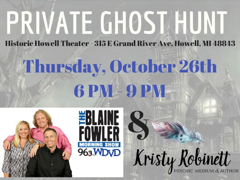 Private Ghost Hunt with Kristy Robinett & The Blaine Fowler Morning Show