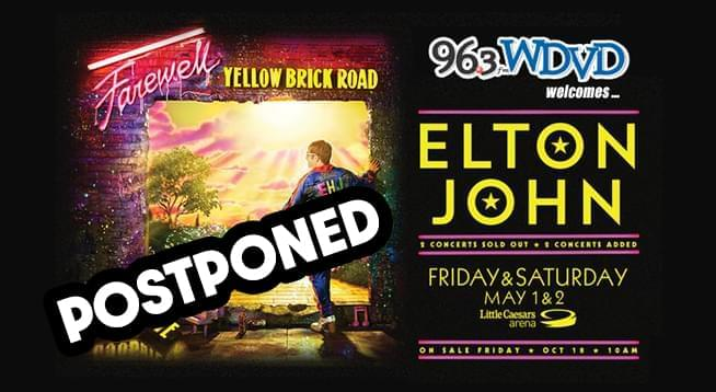 Elton John Fairwell Yellow Brick Road ~ May 1 and 2, 2020