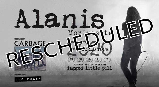 Alanis Morissette ~ Rescheduled to September 12, 2021