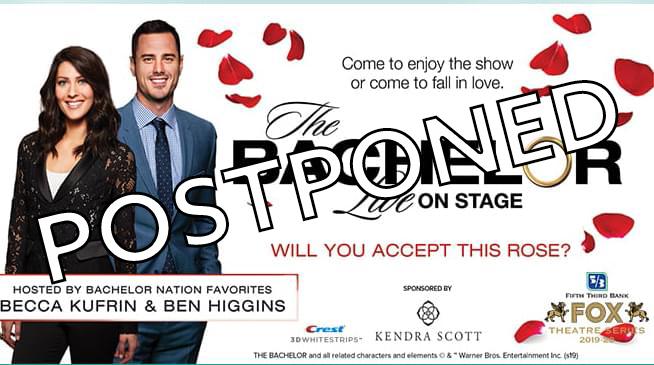 """The Bachelor Live on Stage"" ~ April 4, 2020 ~ POSTPONED"