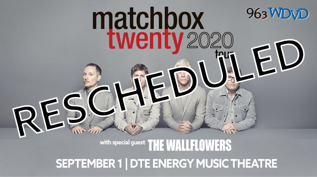 Matchbox Twenty ~ RESCHEDULED to August 29, 2021