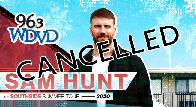 Sam Hunt ~ September 5, 2020 CANCELLED