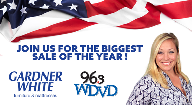 Join 96.3 WDVD and Lauren at Gardner White in Macomb!