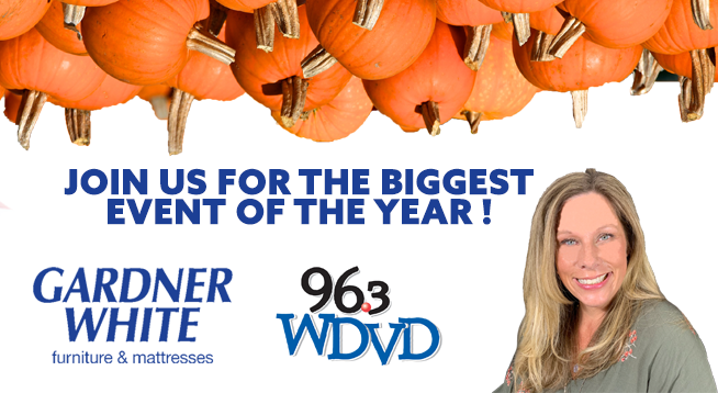 Gardner White with 96.3 WDVD and Kendall! ~ November 1, 2020
