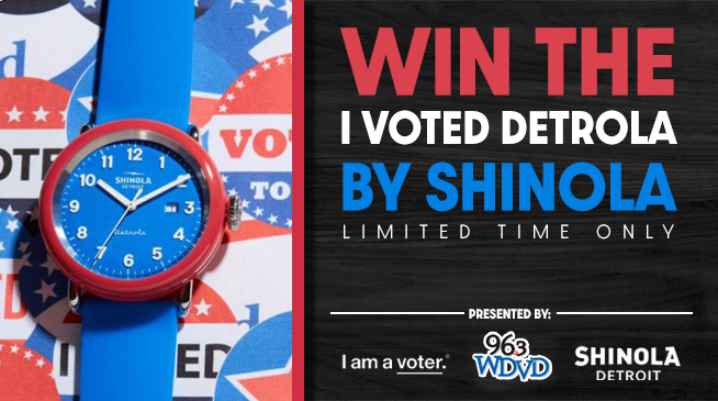 Win the I Vote Detrola Watch From Shinola!