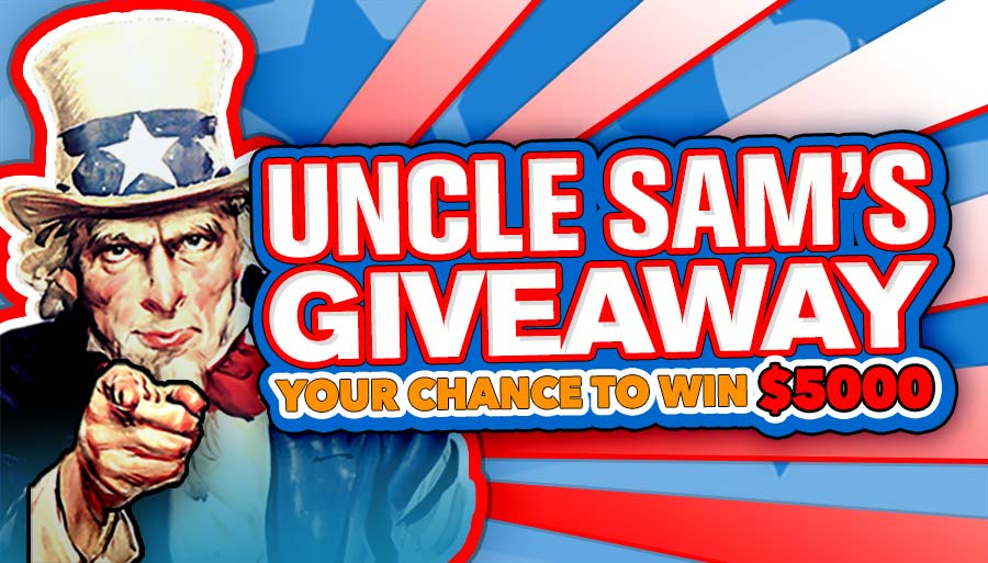 Win $5,000 in Our Uncle Sam's Giveaway!