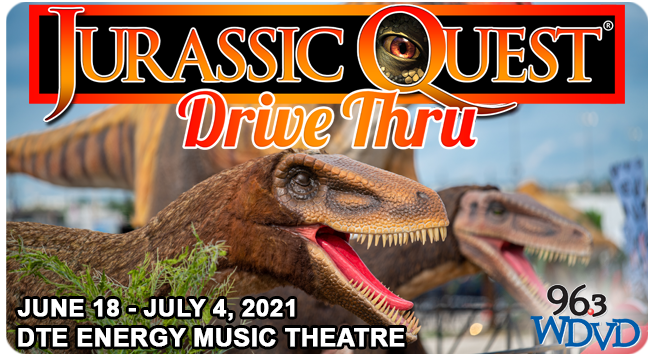 Jurassic Quest Drive Thru at DTE Energy Music Theatre ~ June 18 – July 4, 2021