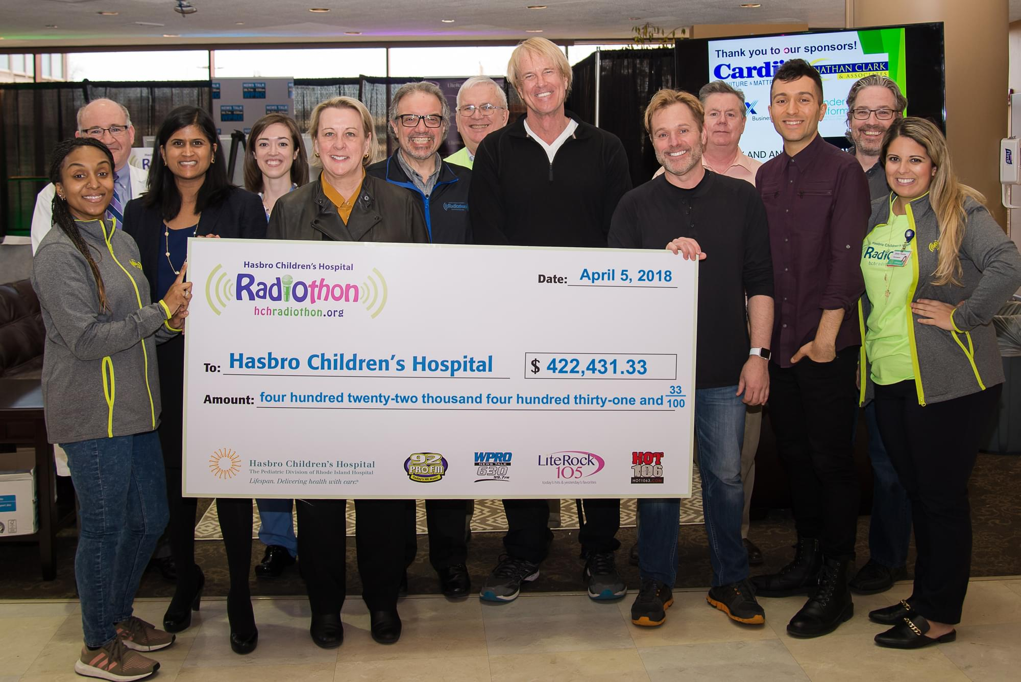 2018 Radiothon Donations Top $422,000 for Hasbro Children's Hospital