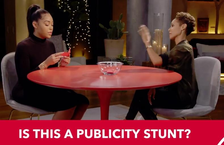 "Jordyn Woods on Red Table Talk:  ""We Kissed on the Lips- But There Wasn't Anything Intimate."""