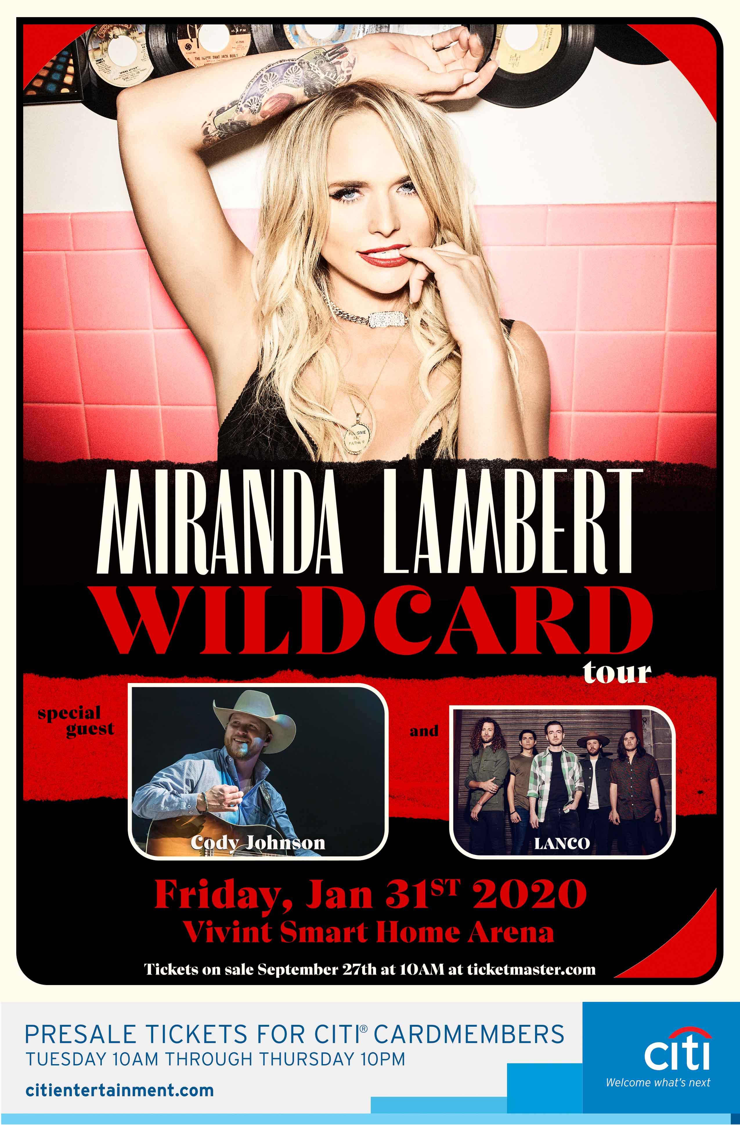 Miranda Lambert Tour 2020.Miranda Lambert Wildcard Tour 2020 Kubl Fm