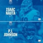 Lions draft Georgia TE Isaac Nauta and Arizona DT P.J. Johnson in seventh round