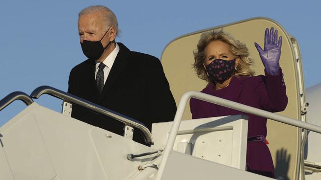 Biden Arrives in Locked-Down Washington