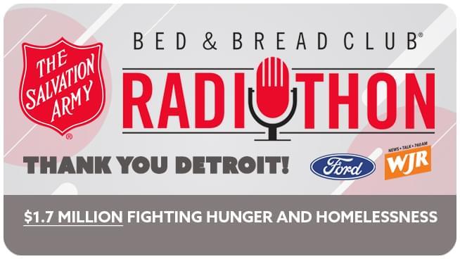 Salvation Army Bed & Bread Club Radiothon Raises $1.7 Million