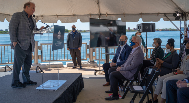Construction Resumes on Detroit Riverwalk, Completion Expected by Fall 2022