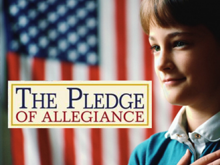 The Pledge of Allegiance!