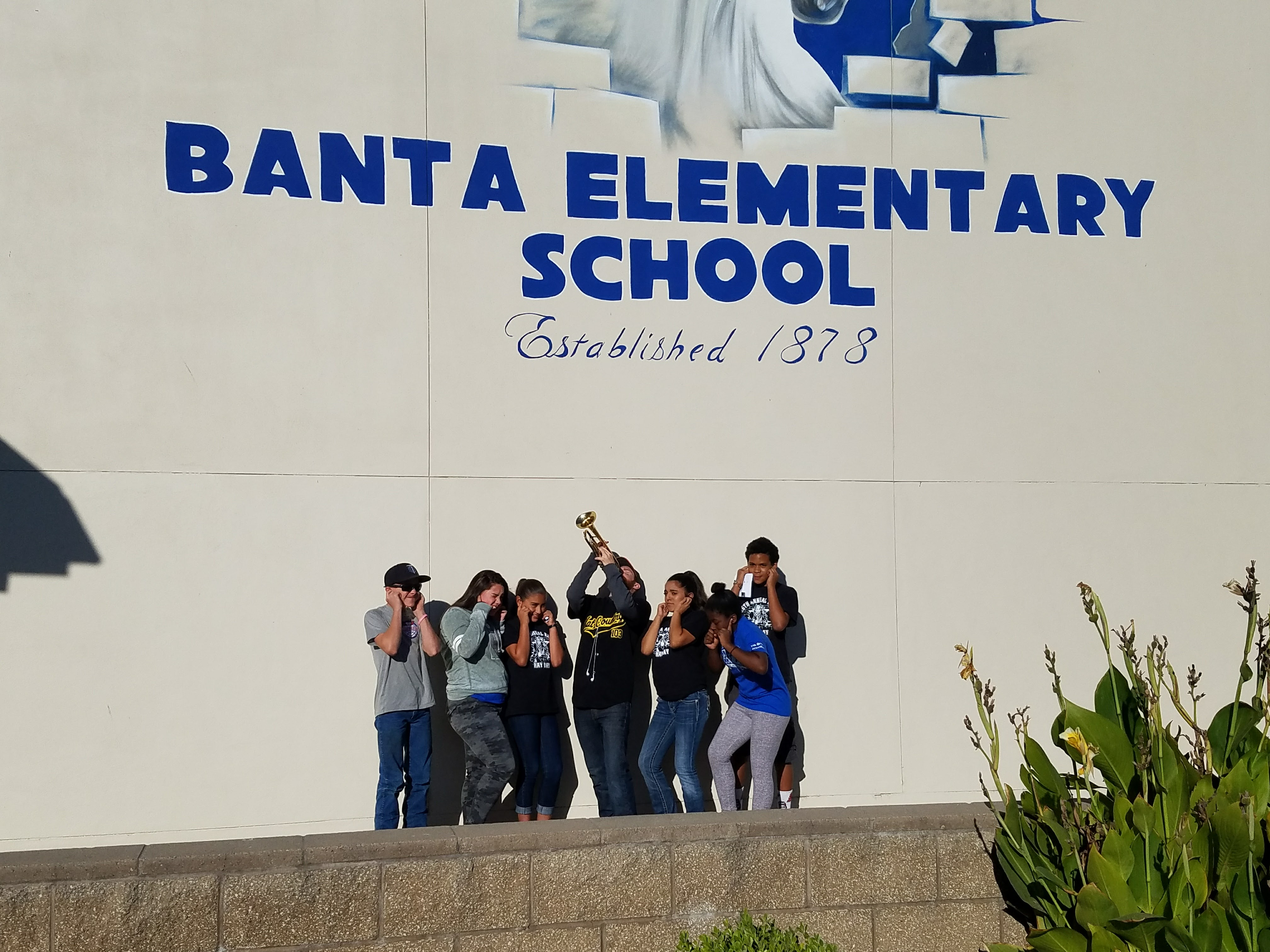 Pledge of Allegiance at Banta Elementary!